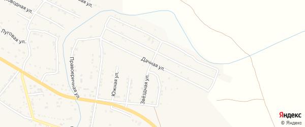 Дачная улица на карте села Яксатово с номерами домов