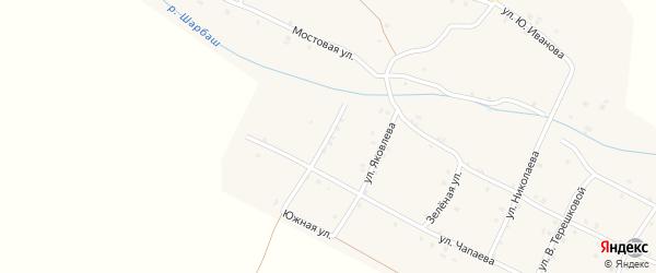 Улица Зарубина на карте села Шигали с номерами домов