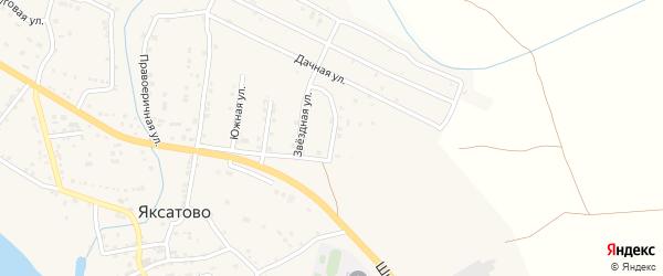 Весенняя улица на карте села Яксатово с номерами домов