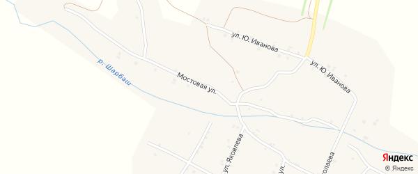 Мостовая улица на карте села Шигали с номерами домов