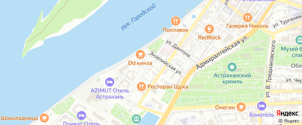 Улица Анатолия Сергеева на карте Астрахани с номерами домов