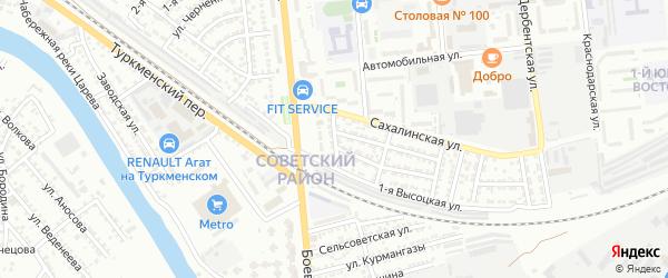 Улица Липкина на карте Астрахани с номерами домов
