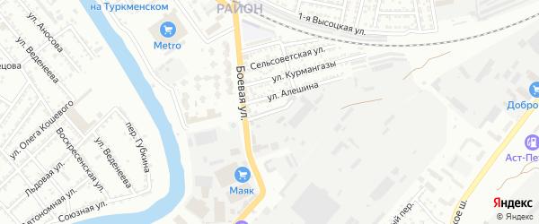 Тернопольская улица на карте Астрахани с номерами домов