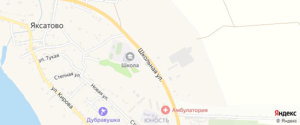 Школьная улица на карте села Яксатово с номерами домов