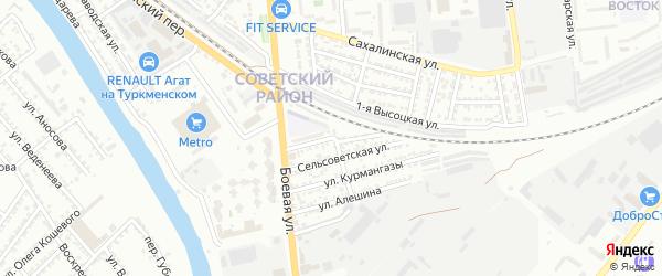 Городская улица на карте Астрахани с номерами домов