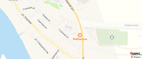 Территория сдт Юность на карте села Яксатово с номерами домов