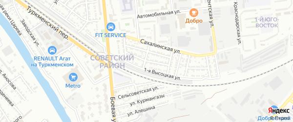 Кемеровская улица на карте Астрахани с номерами домов