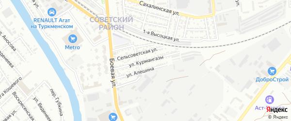 Улица Курмангазы на карте Астрахани с номерами домов