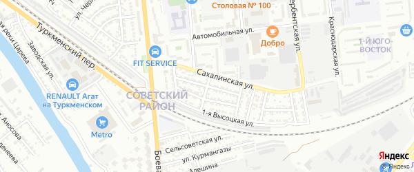 Камчатская улица на карте Астрахани с номерами домов