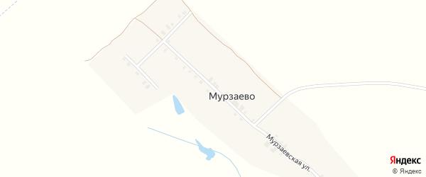Мурзаевская улица на карте деревни Мурзаево с номерами домов