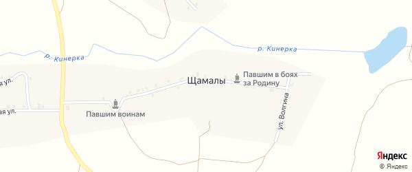 Новая улица на карте деревни Щамалы с номерами домов