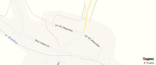 Улица Ю.Иванова на карте села Шигали с номерами домов
