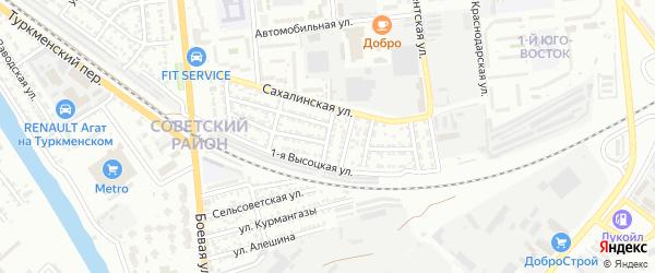 Ковровская улица на карте Астрахани с номерами домов