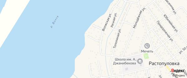 Прибрежная улица на карте села Растопуловки с номерами домов