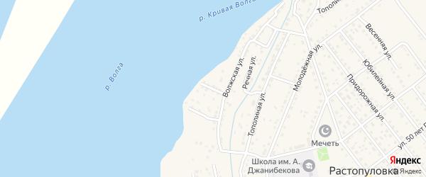 Дачная улица на карте села Растопуловки с номерами домов