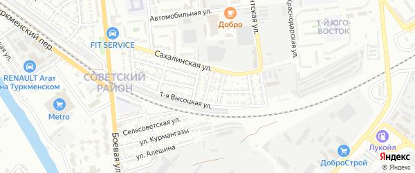 Калининградская улица на карте Астрахани с номерами домов