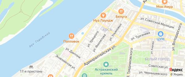 Улица Урицкого на карте Астрахани с номерами домов