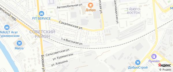 Нижнетагильская улица на карте Астрахани с номерами домов