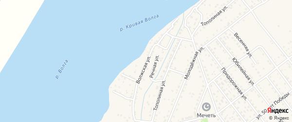 Волжская улица на карте села Растопуловки с номерами домов