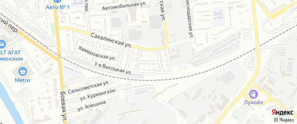 Холмогорская улица на карте Астрахани с номерами домов