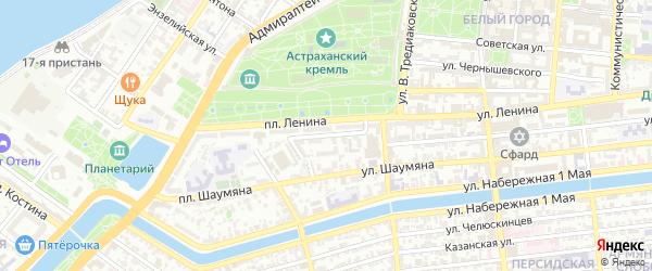 Улица Бурова на карте Астрахани с номерами домов