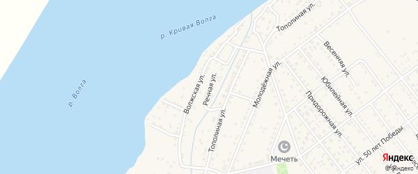 Речная улица на карте села Растопуловки с номерами домов