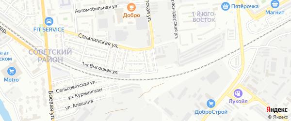 Тепловозная улица на карте Астрахани с номерами домов