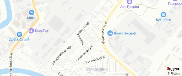 Заводской 1-й переулок на карте Астрахани с номерами домов