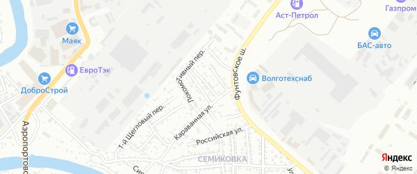 Фунтовский переулок на карте Астрахани с номерами домов