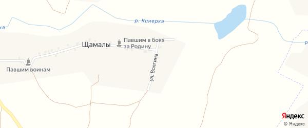 Улица Волгина на карте деревни Щамалы с номерами домов