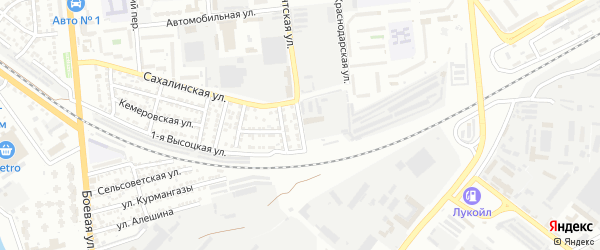 Златоустинская улица на карте Астрахани с номерами домов