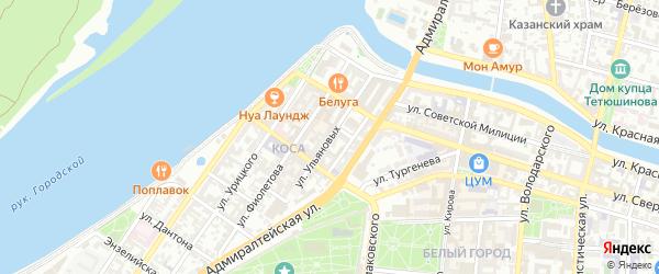 Улица Ульяновых на карте Астрахани с номерами домов