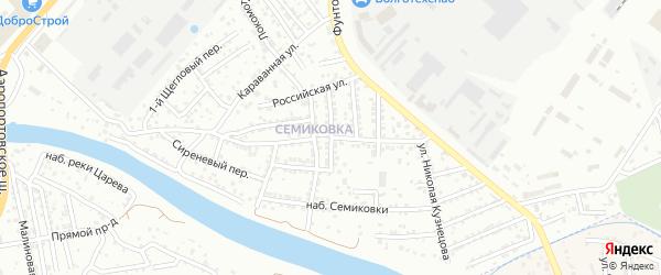 Центральная улица на карте Астрахани с номерами домов