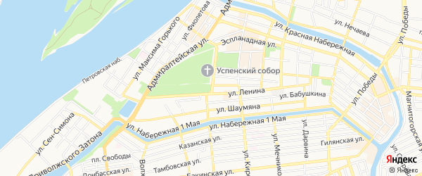 СТ Гранит на карте Астрахани с номерами домов
