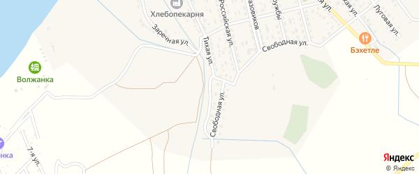 Тихая улица на карте села Растопуловки с номерами домов