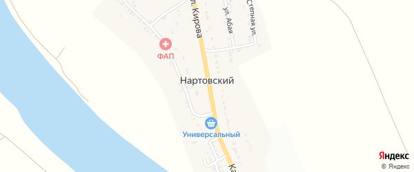 Степная улица на карте Нартовского поселка с номерами домов
