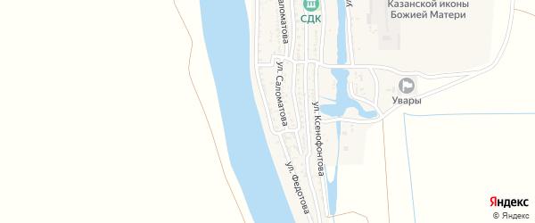 Улица Федотова на карте села Увары с номерами домов