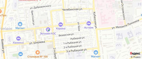 Цимлянская улица на карте Астрахани с номерами домов