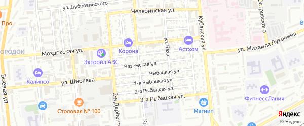 Вяземская улица на карте Астрахани с номерами домов