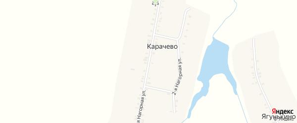 Нагорная 1-я улица на карте села Карачево с номерами домов