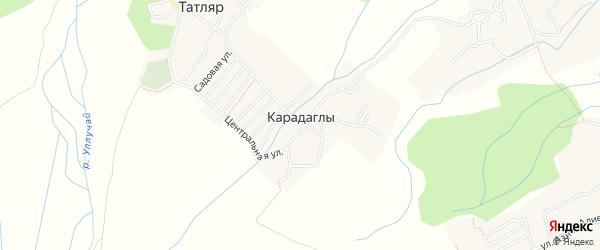 Карта села Карадаглы в Дагестане с улицами и номерами домов