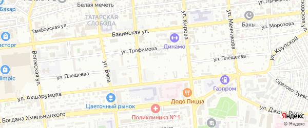 Улица Плещеева на карте Астрахани с номерами домов