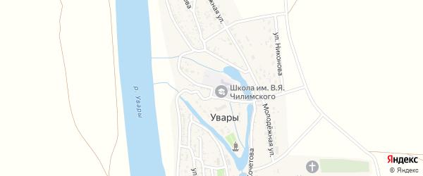 Площадь Павших Коммунаров на карте села Увары с номерами домов