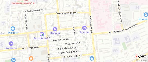 Улица Баха на карте Астрахани с номерами домов