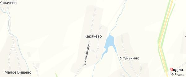 Карта села Карачево в Чувашии с улицами и номерами домов
