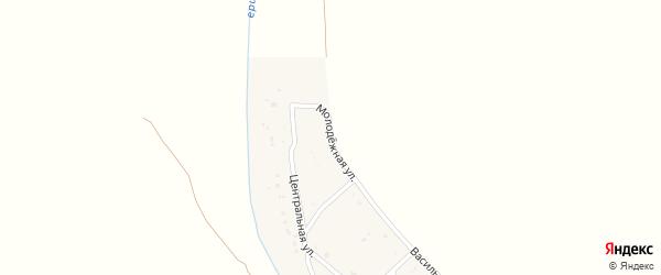 Молодежная улица на карте Сенного поселка с номерами домов