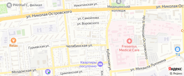 Улица Фридриха Энгельса на карте Астрахани с номерами домов