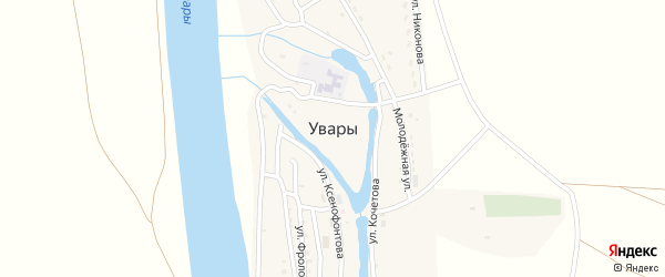 Улица Чернова на карте села Увары с номерами домов