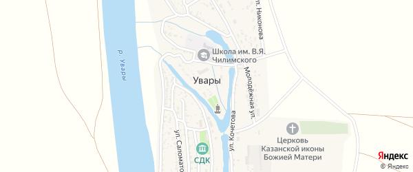 Дорожная улица на карте села Увары с номерами домов