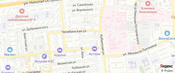 Ижевская улица на карте Астрахани с номерами домов